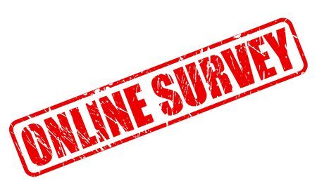 online survey: Online survey red stamp text on white