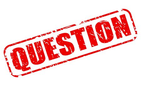 Question red stamp text on white Stock Photo