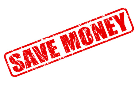 salve: Save money red stamp text on white