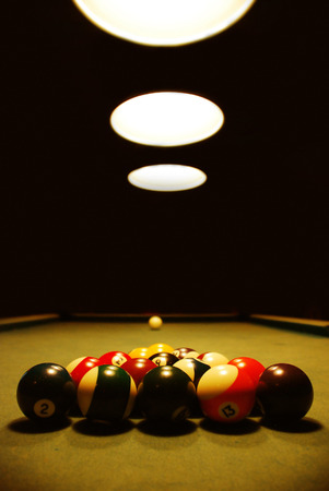 Snooker billiard table with light