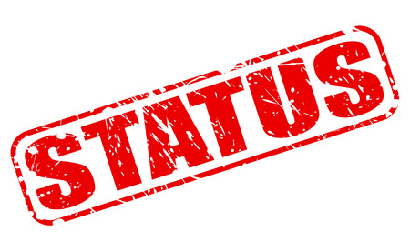 Status red stamp text on white