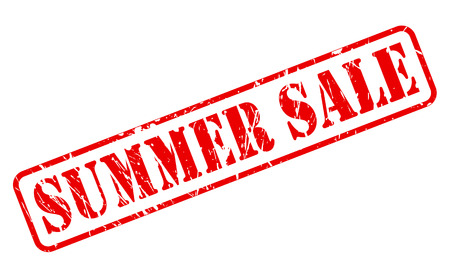 cousin: Summer sale red stamp text on white Stock Photo