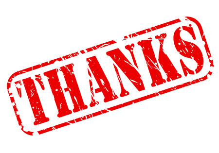thanks a lot: Thanks red stamp text on white Stock Photo