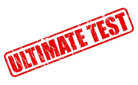 ultimate: Ultimate test red stamp text on white Stock Photo