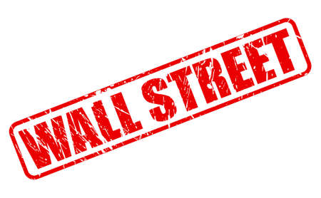 wall street: Wall street red stamp text on white