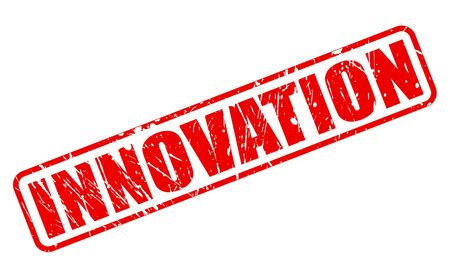 Innovation red stamp text on white Stock Photo