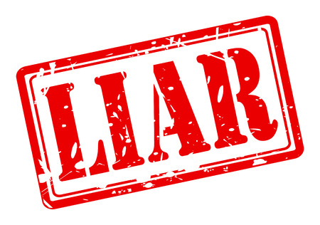 dishonest: Liar red stamp text on white Stock Photo