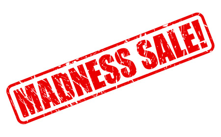madness: Madness sale red stamp text on white Stock Photo