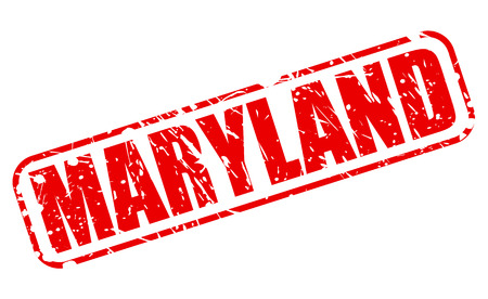 maryland: Maryland red stamp text on white