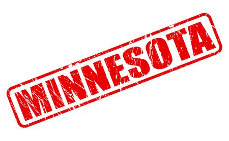 minnesota: Minnesota red stamp text on white