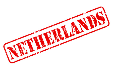 NETHERLANDS red stamp text on white background photo