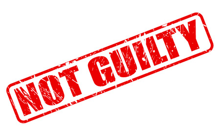 guilty: Not guilty red stamp text on white Stock Photo