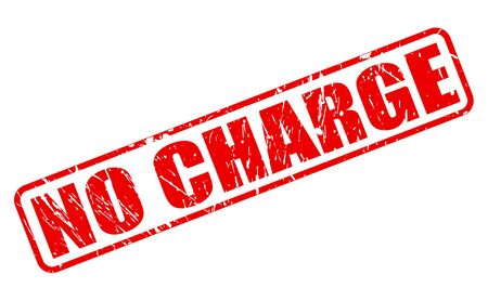 charge: No charge red stamp text on white