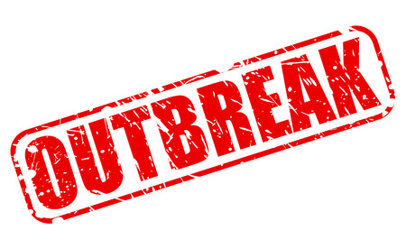 outbreak: Outbreak red stamp text on white