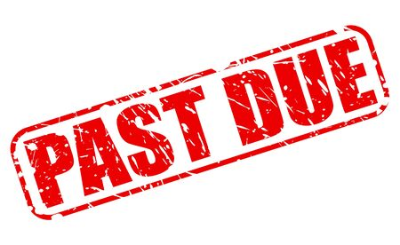 Past due red stamp text on white Stock Photo