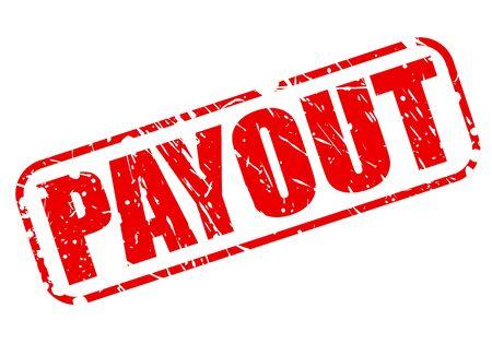 payout: Texto Pago sello rojo sobre blanco Foto de archivo