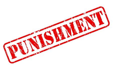 disciplinary action: Punishment red stamp text on white