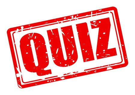 QUIZ red stamp text on white Stock Photo