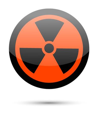 radiation sign: Radiation sign on white background Stock Photo