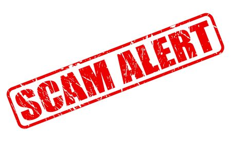 alert: SCAM alert red stamp text on white Stock Photo