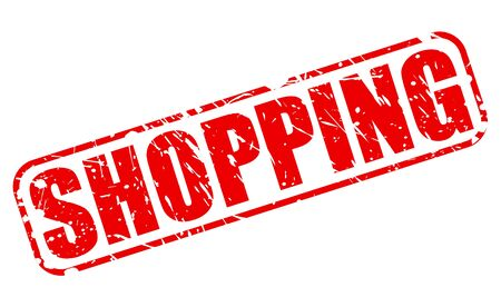 rubberstamp: Shopping red stamp text on white