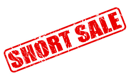 short sale: Short sale red stamp text on white Stock Photo