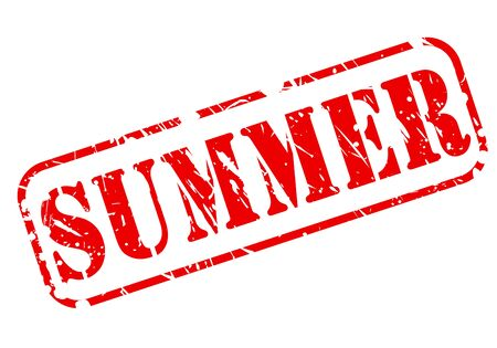 going away: Summer stamp with red text on white background Stock Photo