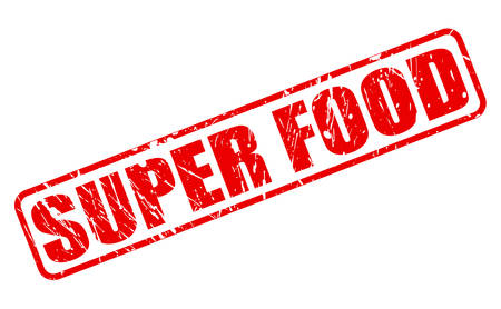super food: Super food red stamp text on white Stock Photo