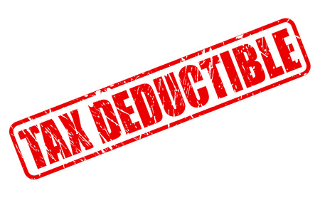 taxman: Tax deductible red stamp text on white