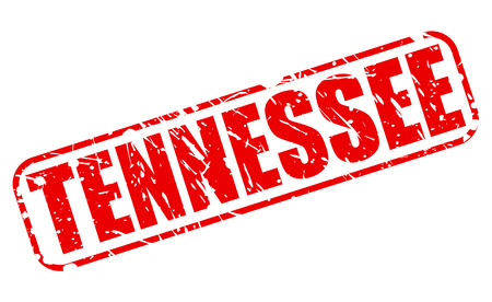tennessee: Tennessee red stamp text on white Stock Photo