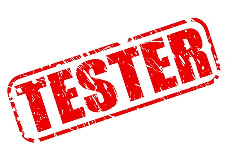 tester: Tester red stamp text on white