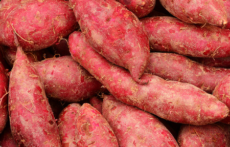 sweet potatoes: Texture of sweet potatoes background