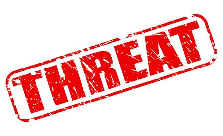 threat: Threat red stamp text on white Stock Photo