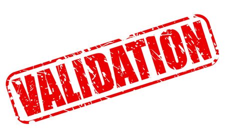 validation: Validation red stamp text on white