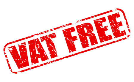 vat: Vat free red stamp text on white