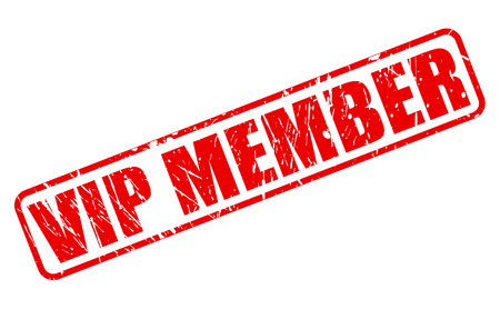 vip area: VIP MEMBER red stamp text on white Stock Photo