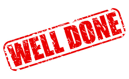 appraisal: Well done red stamp text on white
