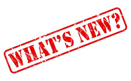 흰색에 새로운 빨간 스탬프 텍스트 무엇입니까?