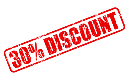 verification and validation: 30 percent discount red stamp on white