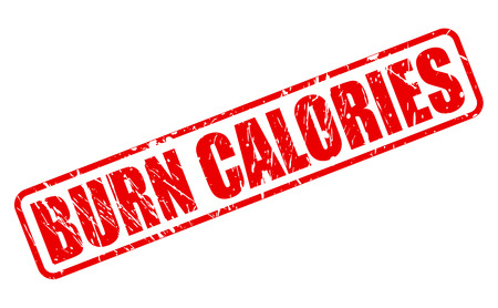 the calories: Burn calories red stamp text on white