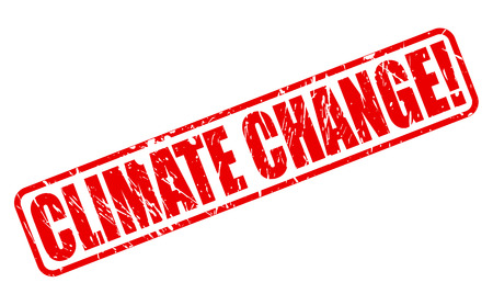 unsustainable: Climate change red stamp text on white