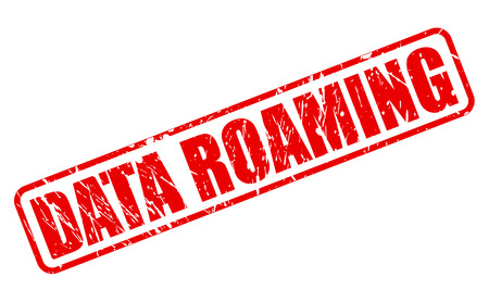 roaming: Data roaming red stamp text on white Stock Photo