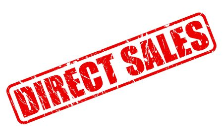 direct sale: Direct sales red stamp text on white