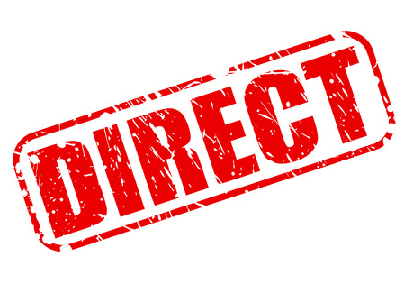 implicit: Direct shop red stamp text on white Stock Photo