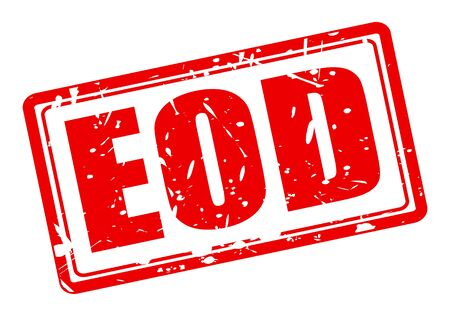 arsonist: EOD red stamp text on white (Explosive Ordnance Disposal)