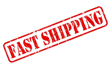 fast shipping: Fast shipping red stamp text on white