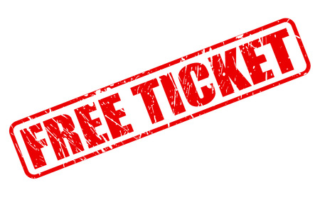 Free ticket red stamp text on white