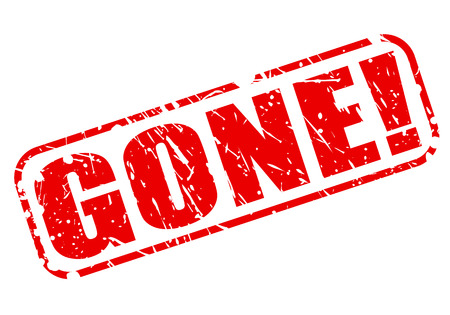 gone: Gone red stamp text on white Stock Photo