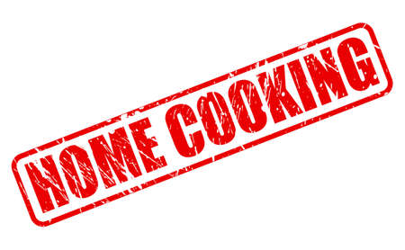 home cooking: Home cooking red stamp text on white
