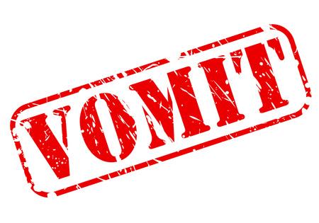queasy: Vomit red stamp text on white